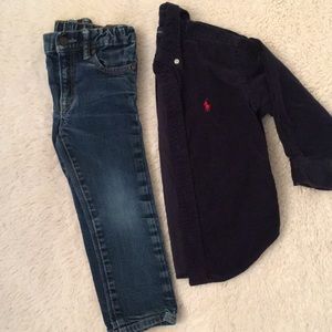 Ralph Lauren and Gap 2T set